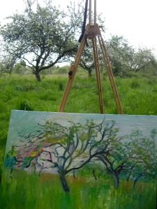 Painting 'The Orchard' Oil on canvas
