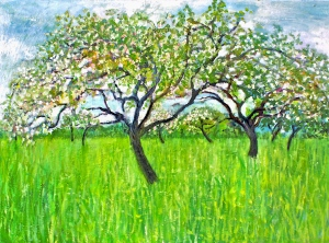 The Orchard Oil on canvas
