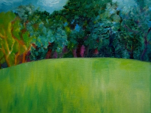 'Winnie's Hill'   Oil sketch on canvas