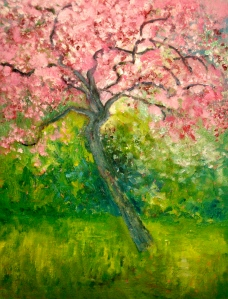 The First and Last Cherry Tree on Sandridge Road Oil on canvas