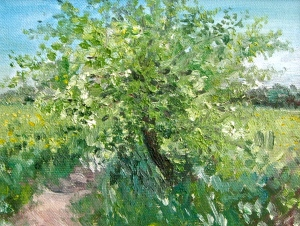 The Little Hawthorn Oil on canvas