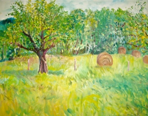 The Meadow Oil on canvas